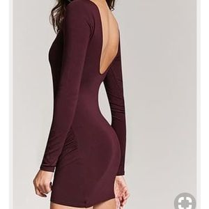 Forever 21 long sleeve bodycon dress